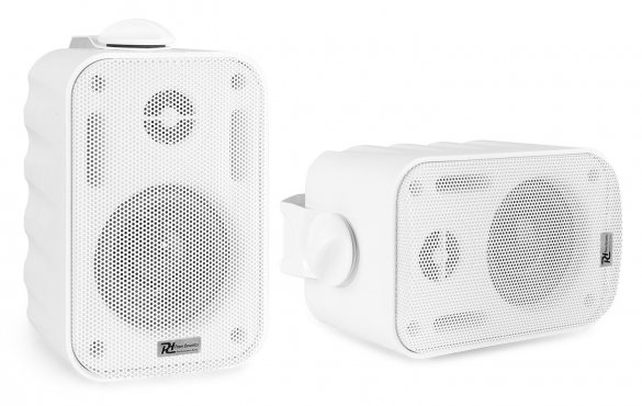 "Power Dynamics BGO30 Speaker Set In/Outdoor 3"" 60W White"