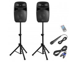Vonyx VPS122A Plug & Play 800W Speaker SET With Stands