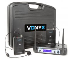 Vonyx WM512H micro VHF 2Ch 2 BP+headset