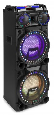 "Fenton VS210 Active Speaker 2X 10"" BT, LED 1600W"
