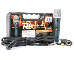Power Dynamics PDM663 Dynamic vocal Microphone In Case