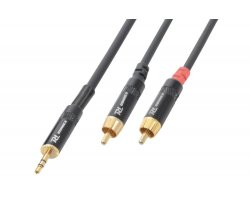 Power Dynamics CX85-1 Cable 3.5 Stereo - 2 X RCA Male 1.5M