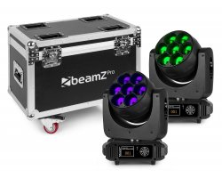 BeamZ Pro MHL740 Mov Head Zoom 7x40W 2pcs FC