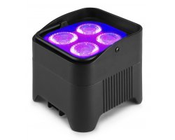 BeamZ BBP94W Battery Uplight Par 4X12W WDMX