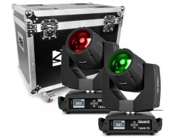 BeamZ Professional Tiger 7R Hybrid Moving head kit 2 pieces in Flightcase