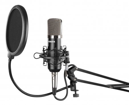 Vonyx CMS400 Studio Set / Condenser Microphone With Stand And Pop Filter