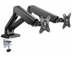 "Audizio MAD20G Double Monitor Arm Gas Spring 17""- 32"""