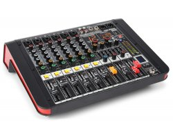 Power Dynamics PDM-M604A 6-Channel Music Mixer with Amplifier