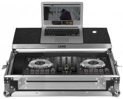 UDG Ultimate Flight Case Pioneer DDJ-RB/SB/SB2 Silver Plus (Laptop shelf)